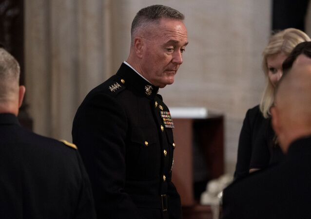 Joint Chiefs Chairman Gen. Joseph Dunford at the U.S. Capitol in Washington