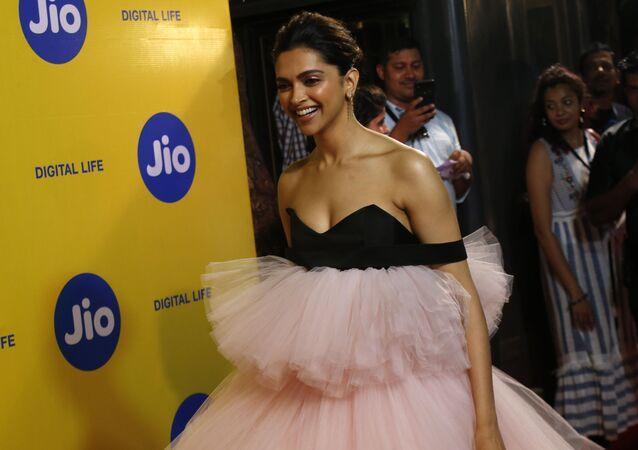 Bollywood actress Deepika Padukone arrives for the opening ceremony of the 21st MAMI Mumbai film festival in Mumbai, India, Thursday, Oct. 17, 2019.