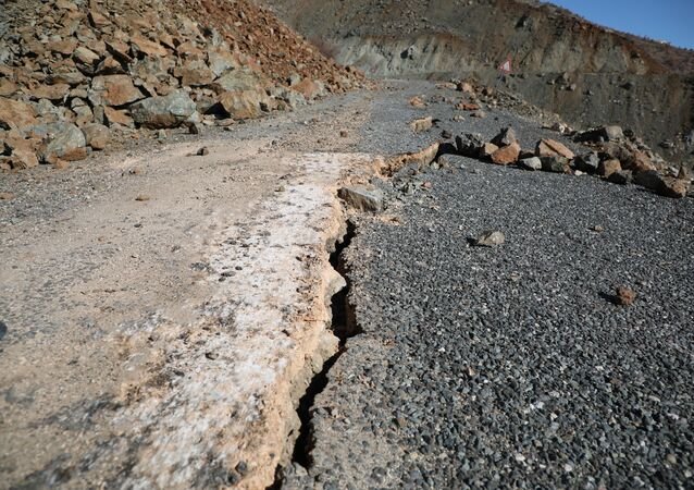 Road Cracks in Sivrice, Elazig Province After Quake