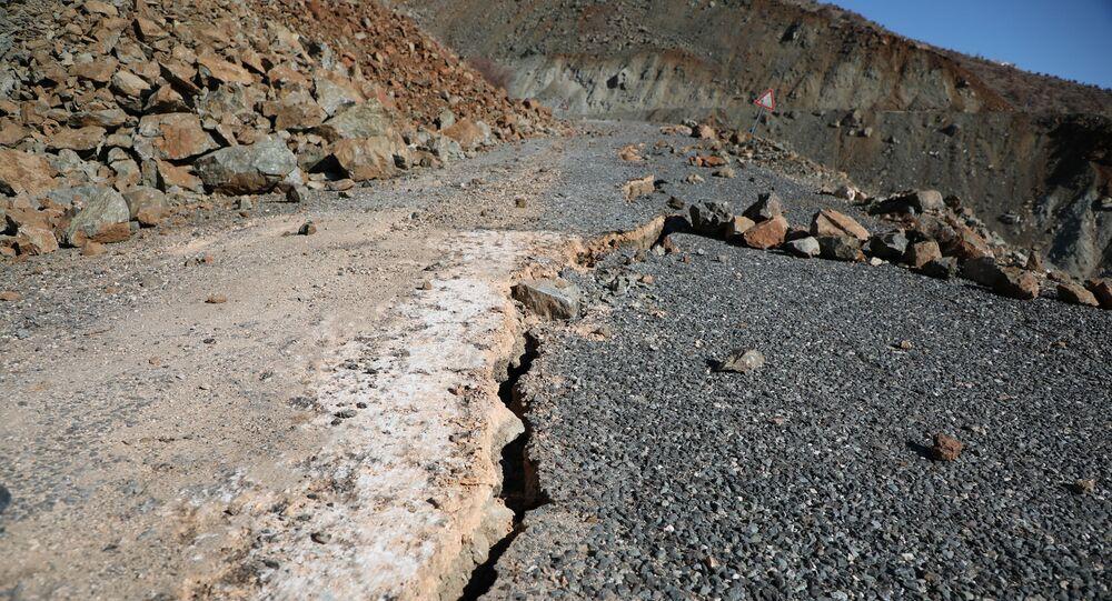 Road Cracks in Sivrice, Elazig Province After Quake
