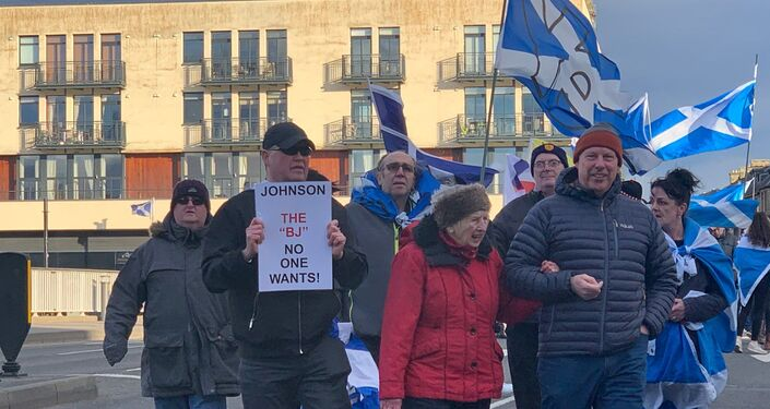 Freedom March for Scottish Independence in Inverness, the Scottish Highlands