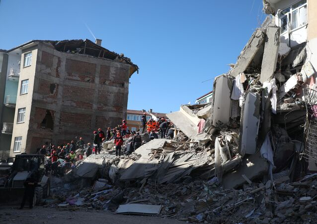 Rescue Workers in Elazig After Earthquake