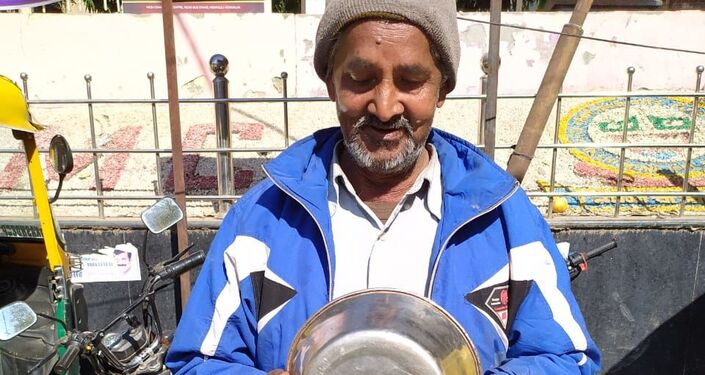 Fruits vendor at the new spot in Delhi's Mehrauli constituency