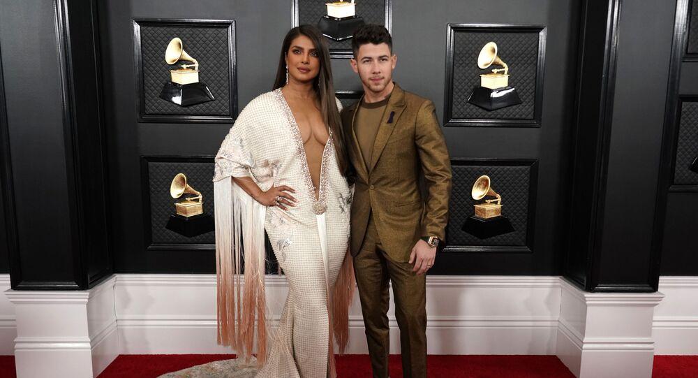 62nd Grammy Awards - Arrivals - Los Angeles, California, 26 January 2020 - Priyanka Chopra and Nick Jonas