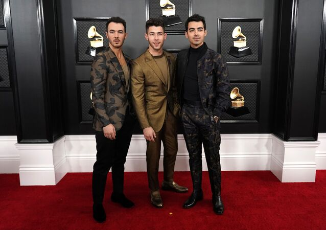 62nd Grammy Awards - Arrivals - Los Angeles, California, U.S., January 26, 2020 - (L-R) Kevin Jonas, NIck Jonas and Joe Jonas
