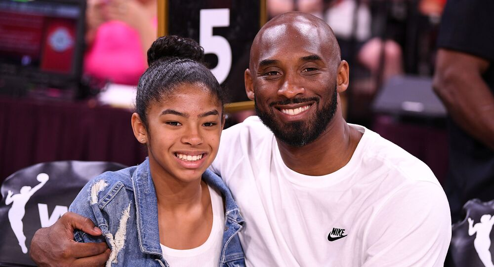 Kobe Bryant is pictured with his daughter Gianna at the WNBA All Star Game at Mandalay Bay Events Center Jul 27, 2019.
