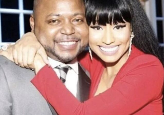 Nicki Minaj with her brother Jelani Maraj