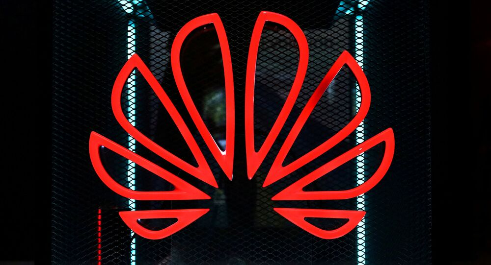 The Huawei logo is pictured at the IFA consumer tech fair in Berlin, Germany, 5 September 2019