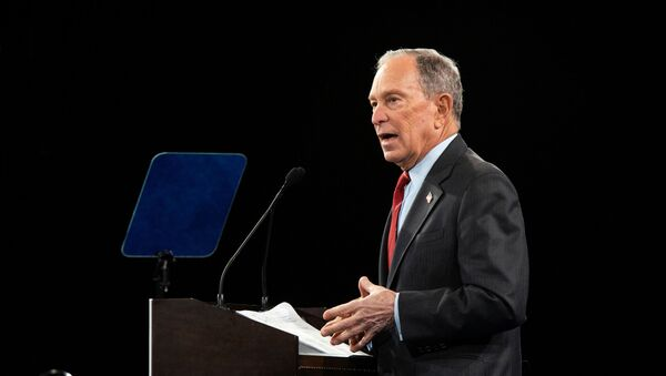Democratic U.S. presidential candidate Mike Bloomberg delivers a speech during the campaign event Women for Mike in the Manhattan borough of New York City, New York, U.S., January 15, 2020 - Sputnik International