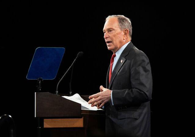 Democratic U.S. presidential candidate Mike Bloomberg delivers a speech during the campaign event Women for Mike in the Manhattan borough of New York City, New York, U.S., January 15, 2020