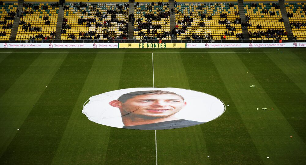 Soccer Football - Ligue 1 - Nantes v Bordeaux - The Stade de la Beaujoire - Louis Fonteneau, Nantes, France - January 26, 2020  General view inside the stadium in memory of Emiliano Sala to mark the one year anniversary