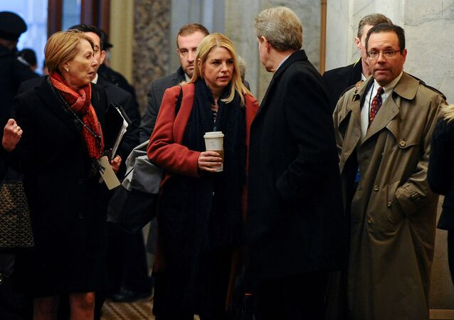 U.S. President Donald Trump's legal team, including Jane Raskin, Pam Bondi and Michael Purpura arrive at the U.S. Capitol for Trump's Senate impeachment trial in Washington, U.S., January 28, 2020.