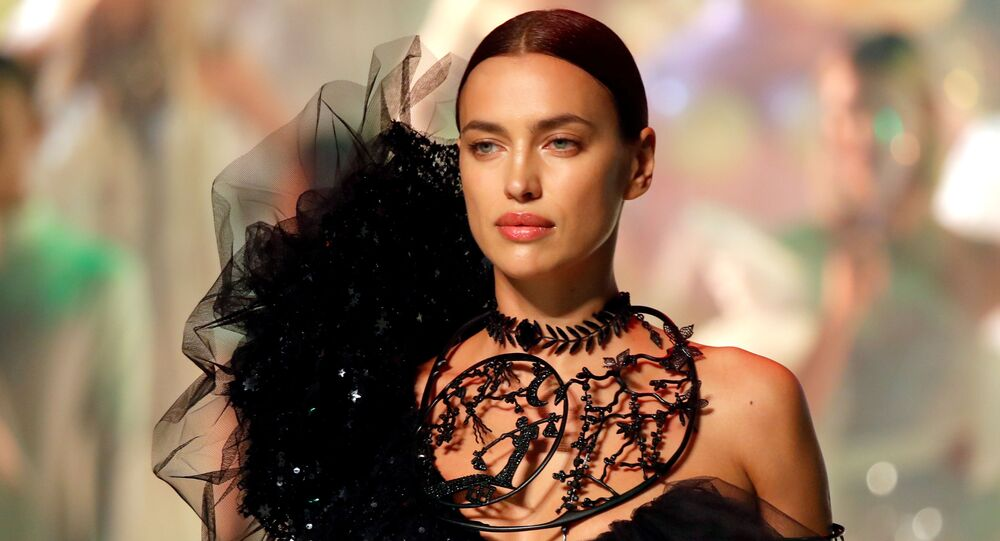 Model Irina Shayk presents a creation by designer Jean Paul Gaultier as part of his Haute Couture Spring/Summer 2020 collection show in Paris, France, 22 January 2020.