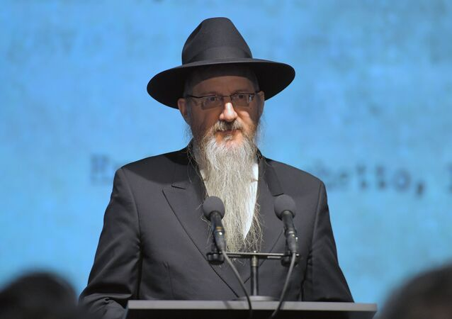 The chief rabbi of Russia, Berl Lazar