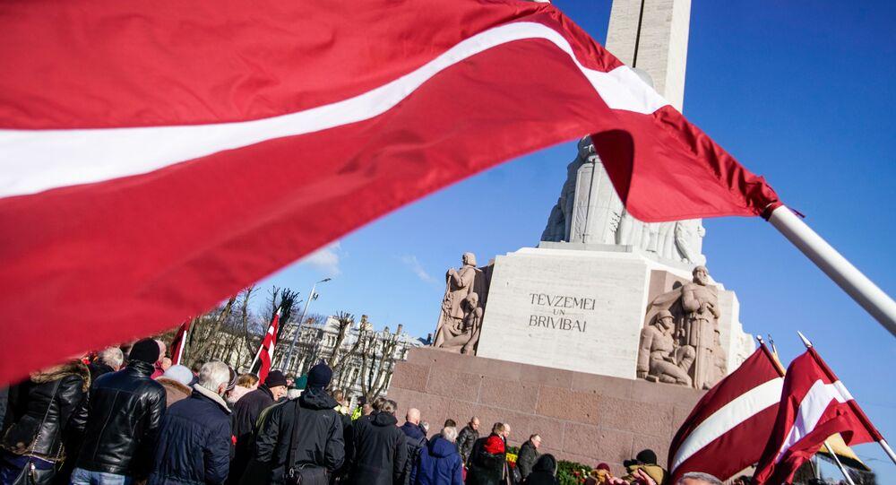 Nazi Veterans Waffen-SS rally in Riga