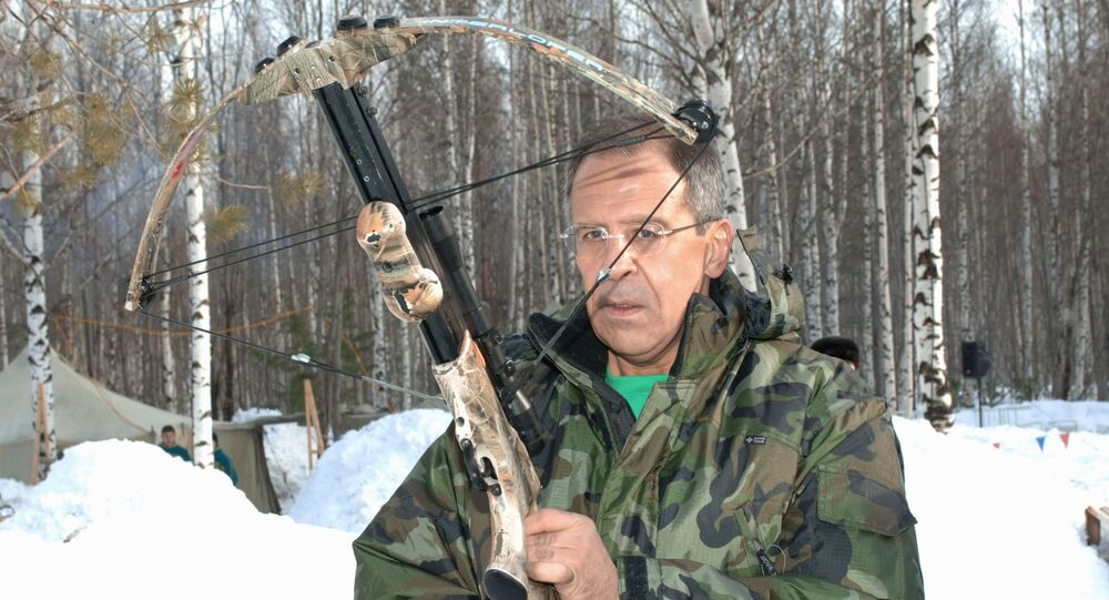 Russian Foreign Minister Sergei Lavrov hunting in Khanty-Mansiisk