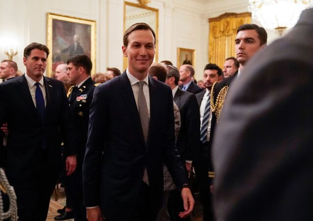 Senior White House Advisor Jared Kushner departs after U.S. President Donald Trump delivered joint remarks with Israel's Prime Minister Benjamin Netanyahu in the East Room of the White House in Washington, U.S., January 28, 2020