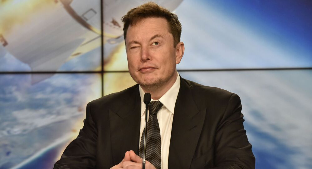 SpaceX founder and chief engineer Elon Musk reacts at a post-launch news conference to discuss the  SpaceX Crew Dragon astronaut capsule in-flight abort test at the Kennedy Space Center in Cape Canaveral, Florida, U.S. January 19, 2020