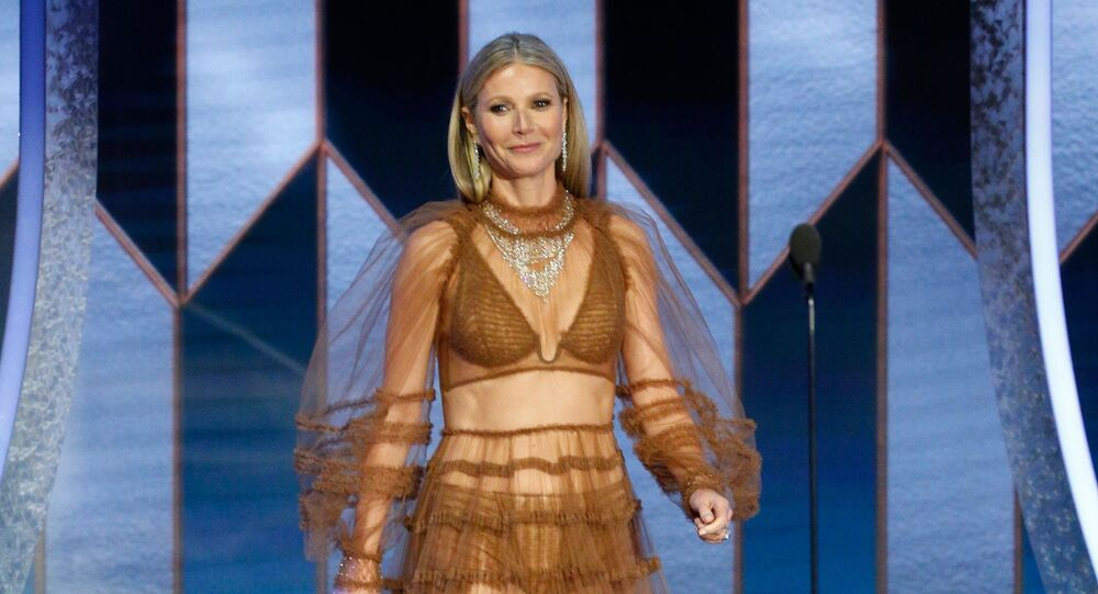 77th Golden Globe Awards - Show - Beverly Hills, California, U.S., January 5, 2020 - Gwyneth Paltrow on stage.
