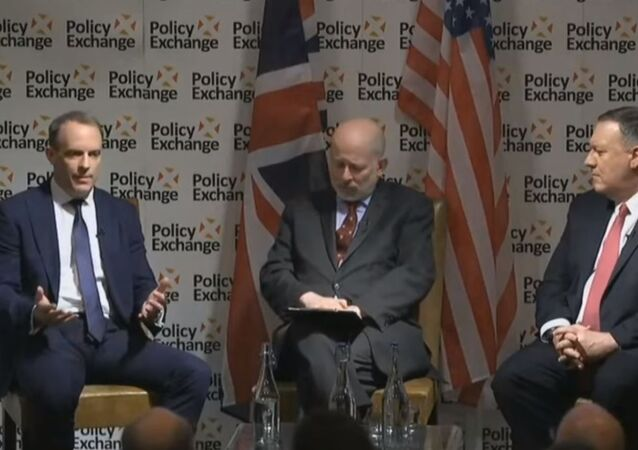 Dominic Raab and Mike Pompeo at Policy Exchange Think Tank 30 January 2020