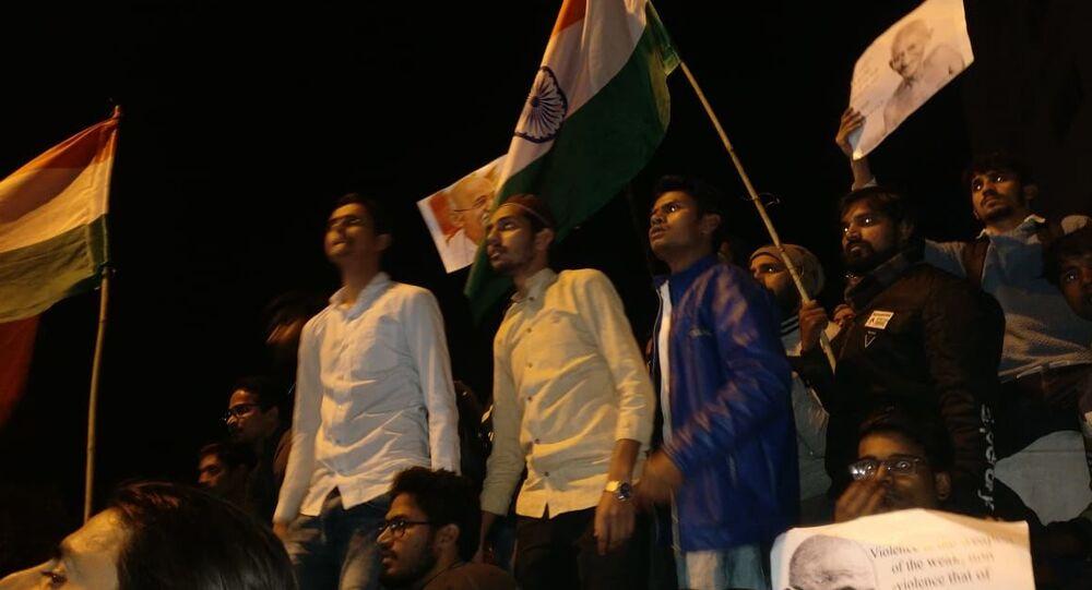 Anti-CAA protest march in Delhi, 30 January