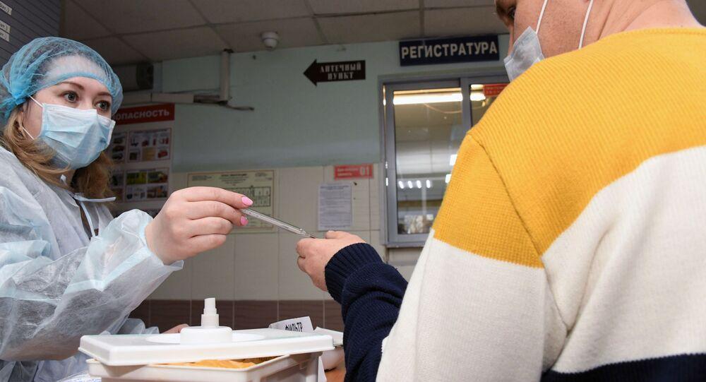 Quarantine control in Russian clinic
