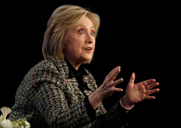 Former U.S. Secretary of State Hillary Clinton speaks at a panel for the Hulu documentary Hillary during the Winter TCA (Television Critics Association) Press Tour in Pasadena, California, U.S., January 17, 2020