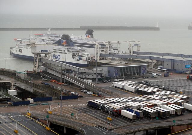 A general view shows the port on Brexit day, in Dover, Britain January 31, 2020