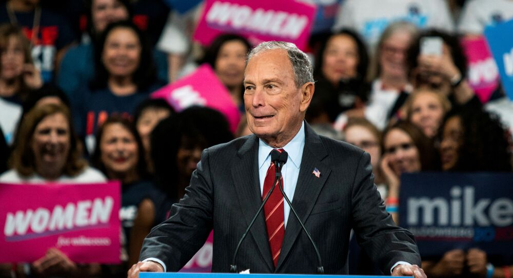 Democratic U.S. presidential candidate Mike Bloomberg delivers a speech during the campaign event Women for Mike in the Manhattan borough of New York City, New York, U.S., January 15, 2020.