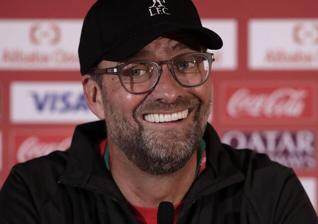 Liverpool's manager Jurgen Klopp speaks during a press conference