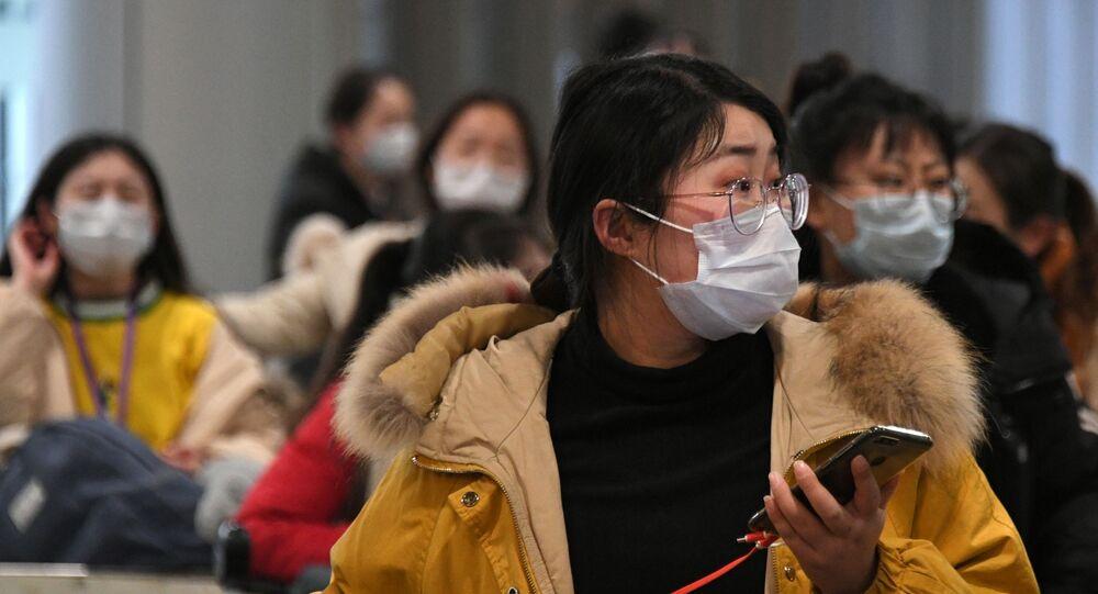 Passengers Wearing Masks at Terminal F of Sheremetyevo Airport