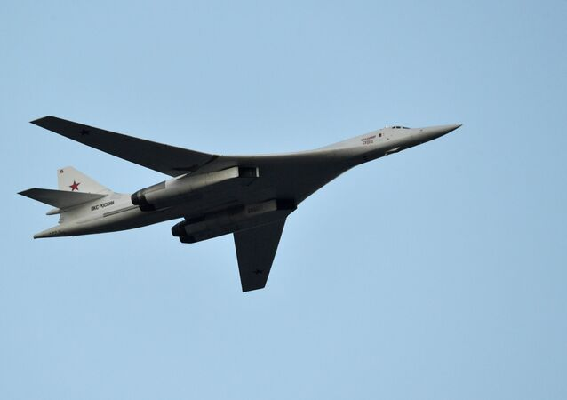 Russian Tu-160 (NATO reporting name: Blackjack) supersonic heavy strategic bomber