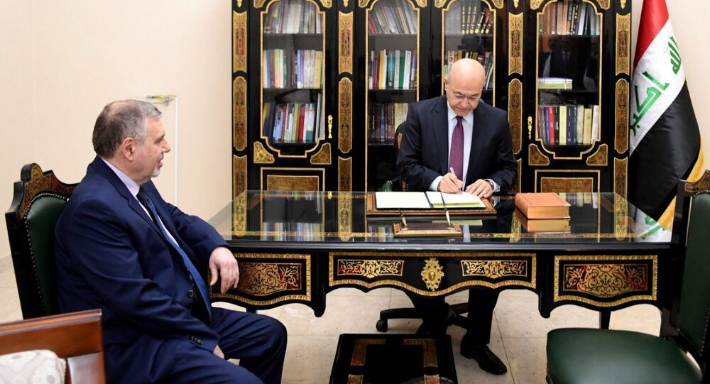 Iraq's President Barham Salih instructs newly appointed Prime Minister Mohammed Tawfiq Allawi