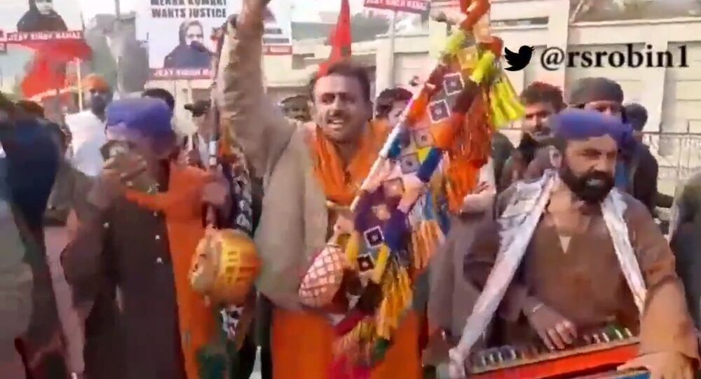 Hindus stage a protest in Pakistan's Sindh province