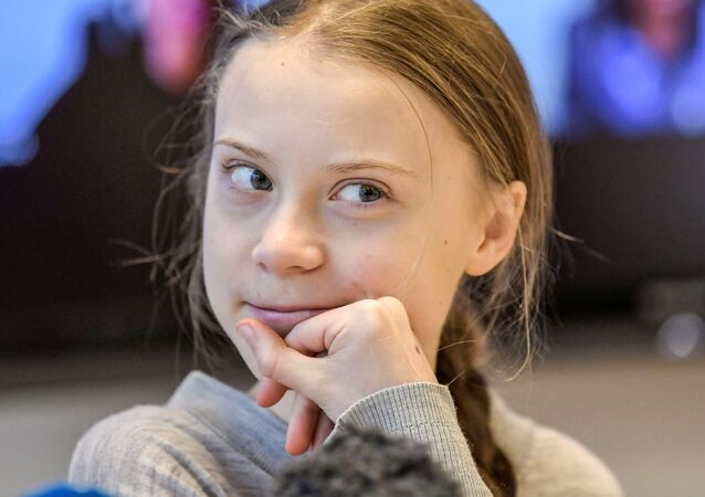 Climate change activist Greta Thunberg attends a news conference with climate activists and experts from Africa, in Stockholm, Sweden January 31, 2020