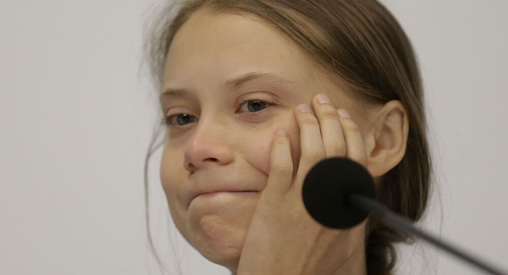 Climate activist Greta Thunberg takes part in a news conference at the COP25 climate summit in Madrid, Spain, 9 December 2019. Thunberg is in Madrid, where a global UN-sponsored climate change conference is taking place