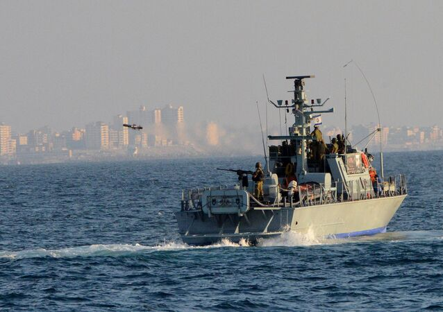 Israel Navy Strike Gaza from the Sea