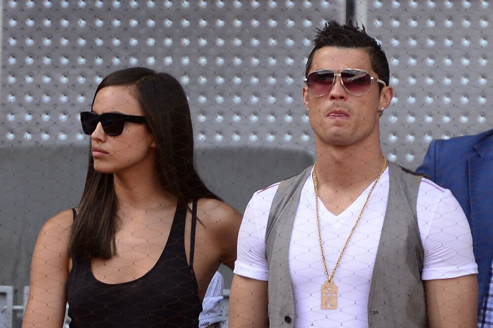 Football player Cristiano Ronaldo with his girlfriend Irina Shayk