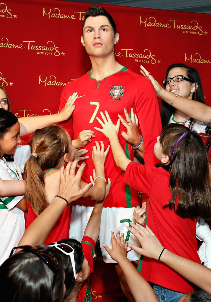 Wax figure of Cristiano Ronaldo at Madame Tussauds