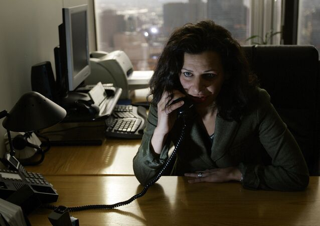 Massachusetts undersecretary of Homeland Security Juliette Kayyem talks on the phone at Executive Office of Public Safety in Boston, Thursday, Jan., 18, 2007