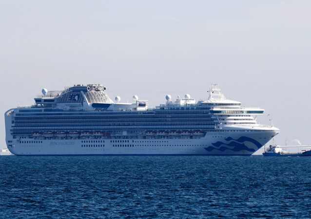 Cruise ship Diamond Princess is seen anchored near Yokohama Port, after ten people on the cruise liner tested positive for coronavirus near Yokohama, south of Tokyo, Japan, 5 February 2020.