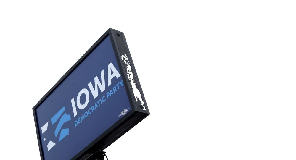 DES MOINES, IOWA - FEBRUARY 04: A sign is displayed outside Iowa Democratic Party headquarters February 4, 2020 in Des Moines, Iowa. The announcement of the results in the Iowa presidential caucuses have been delayed after inconsistencies were found late Monday night related to the app used to count the votes. The state Democratic Party said that the results will be manually verified before releasing.