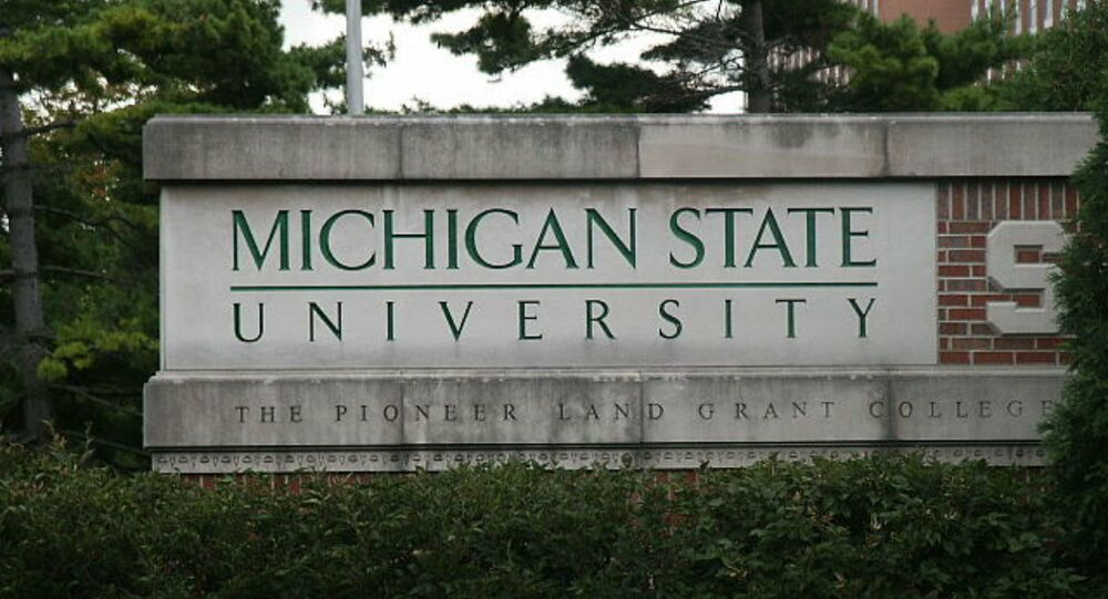 Michigan State University sign