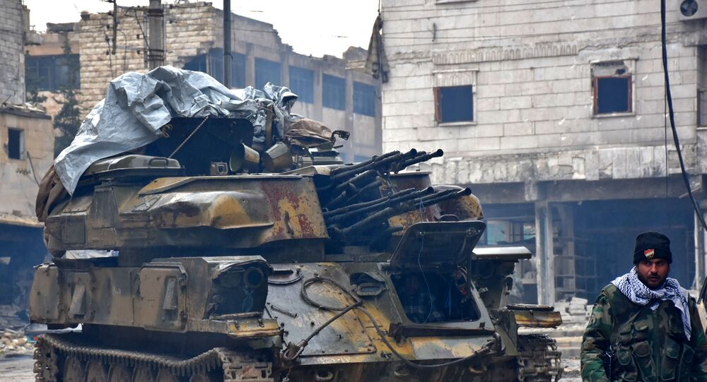 Syrian pro-government forces in the northern embattled city of Aleppo