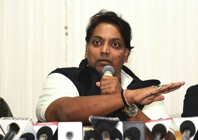Bollywood choreographer and film director Ganesh Acharya addresses a press conference in response to a harassment complaint against him by a female choreographer, in Mumbai on February 1, 2020