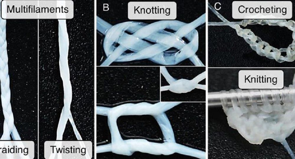 An illustration of techniques using the newly-developed 'human textile'