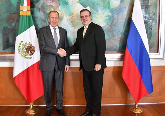 Marcelo Ebrard and Sergey Lavrov in Mexico City