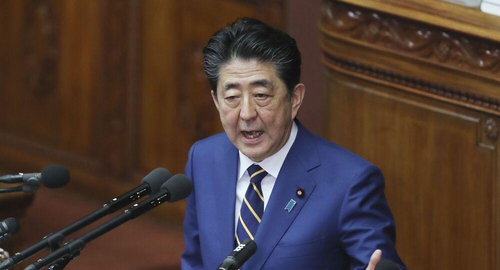 Japanese Prime Minister Shinzo Abe in Tokyo