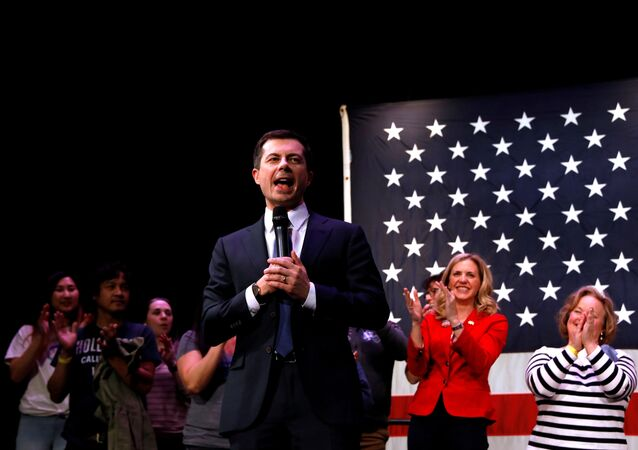 Democratic presidential candidate and former South Bend, Indiana mayor Pete Buttigieg, speaks during a campaign event in Concord, New Hampshire, U.S., February 4, 2020