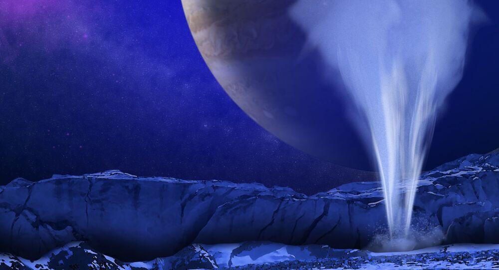 Artist's Concept of Europa Water Vapor Plume